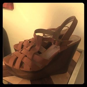 Size 10 Wedge sandals never worn.